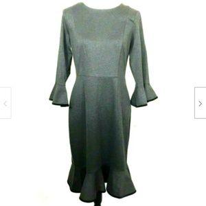 Nanette Lepore Sz 6 Moody Treasures Dress Gray